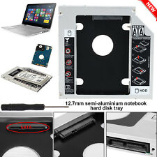 SATA 2nd HDD SSD Disque Dur Caddy Case for 12.7 mm Universel Laptop CD/DVD-ROM