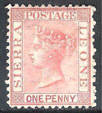 Sierra Leone 1872 rose-red crown CC sideways perf 12.5 mint SG7
