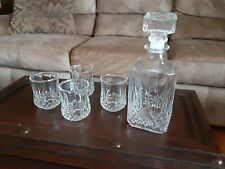 Gibson Home glass decanter with 4 glasses. Out of the box but never used.