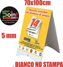 Espositore Lavagna Cavalletto Pubblicitario Bifacciale bianco polionda 70x100 cm