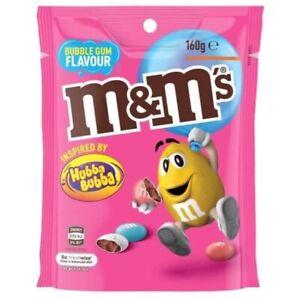 M&Ms Bubble Gum Flavour Chocolate Candies (Hubba Bubba) 160g