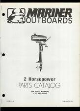 Orig 1978 Mariner 2 HP Outboard Motor/Engine Illustrated Parts List Catalog