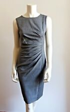 ❄#   MAX MARA Grey Wool&Silk Blend Terri Dress size 16 USA_18 GB_ 50 I_46 D_48 F