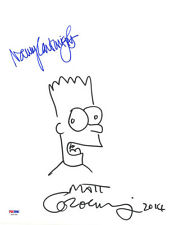 Matt Groening Nancy Cartwright SIGNED 11x14 The Simpsons Sketch LETTER PSA/DNA Comic Art