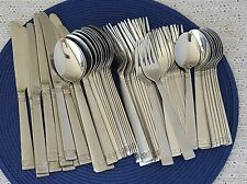 Cambridge Danielle Flatware Stainless Steel Mixed Lot of 58 Pieces