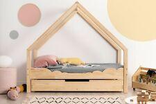 Letto singolo LOCA D per bambini Letto casa CASETTO legno naturale