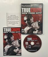 True Crime: New York City PlayStation 2 Black Label Complete PS2 NYPD Disclaimer