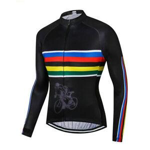 Men's Long Sleeve Cycle Jersey Top Coolmax Bike Cycling Jersey Shirt S-XXXXXL