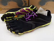 VIBRAM FIVEFINGERS WOMENS V-RUN BLACK YELLOW PURPLE SIZE EU 39