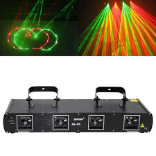 Shinp 260mW Red+Green 4 Lens Laser Light DJ Lighting DMX512 Party Bar KTV Stage