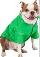 PET LIFE SPORTY AVALANCHE GREEN WEATHERPROOF COAT HOOD DOG PUPPY OUTDOOR LARGE