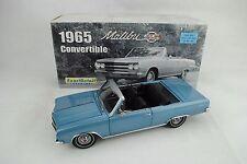 1:18 Exacto Detalle WCC502A 1965 Chevrolet Malibu Ss Convertible Mist Azul