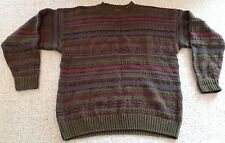 Woods and Gray Chunky Ugly Sweater Brown, Green, Blue and Red Men's Large