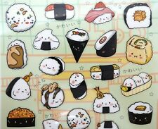 Japanese bento stickers! Kawaii sushi onigiri temaki gunkan food planner sticker