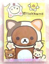 Discount! New Rilakkuma A6 NOTEPAD Neko Cat's Costume Yellow KAWAII JAPAN