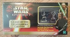 STAR WARS EPISODE 1 CLASH OF THE LIGHTSABERS CARD GAME W/2 PEWTER FIGURES NIP!