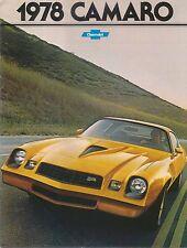 Chevrolet Camaro LT Sport Rally Sport Z28 1977-78 ORIGINAL USA sales brochure