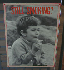 original vintage poster Still Smoking little boy smoking marijuana comedy humor
