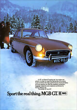 MG MGBGT 1971 RETRO POSTER A3 PRINT FROM CLASSIC ADVERT