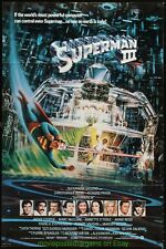 SUPERMAN III MOVIE POSTER 27x41 Folded RARE International Ver CHRISTOPHER REEVES