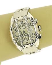 Van Der Bauwede Quarterback Sterling Silver Hefty Chronograph Wrist Watch