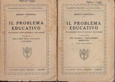 PEDAGOGIA CODIGNOLA IL PROBLEMA EDUCATIVO BREVE COMPENDIO DI STORIA EDUCAZIONE