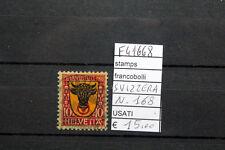 FRANCOBOLLI SVIZZERA USATI N°168 (F41668)