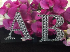 Rhinestone Alphabet Monogram Stickers Block Letter Initial Wedding Scrapbooking