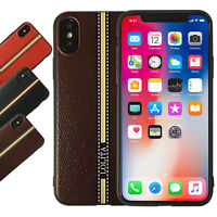 Case For iPhone X 10 Primo Pattern Leather Style TPU Soft Back Cover UK