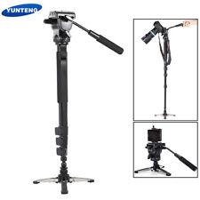 YUNTENG Tripod Monopod Stand W/ Fluid Head For Canon Nikon DSLR Camera Camcorder