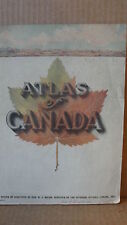 1913 ATLAS OF CANADA - ISSUED BY THE MINISTER OF THE INTERIOR