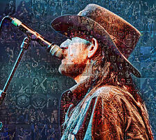 LARGE MOSAIC PHOTO POSTER IN VARIOUS COLOURS OF LEMMY No 9