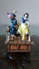 RARE Disney Snow White & 7 Dwarfs Dancing Spinning Animals Music box MY PRINCE