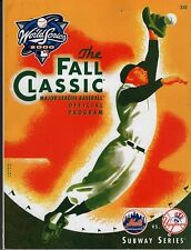 2000 WORLD SERIES SUBWAY SERIES  GAME PROGRAM-NEAR MINT