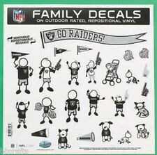 NEW OAKLAND RAIDERS NFL Large Family Decals 25 Piece Auto Car Stickers Emblems