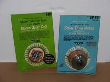 Vintage EP-50 & S4m International Rectifier Solar Drive Motor & Silicon Cell NIP