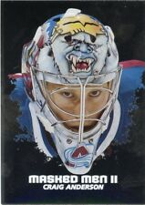 09/10 BETWEEN THE PIPES MASKED MEN II MASK SILVER #MM-41 CRAIG ANDERSON *44376