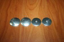 2 Boutons a Recouvrir de Tissu Ø 36 mm Forme Plat Coquille & Culot Aluminium