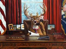 FUNNY DEER POSTER President buck Oval Office White House 10x8 humor art print