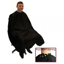 Hair Tools Black DELUXE Barber Hairdressing Gown With POPPERS