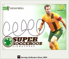 2013-14 A League Trading Cards Super Socceroos Signature SS2 Lucas Neill