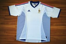 SIZE XL FRANCE NATIONAL TEAM 2002/2004 AWAY FOOTBALL SHIRT JERSEY ADIDAS WHITE
