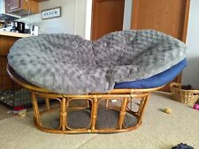 Double Papasan with 2 Pier1 cushions - excellent condition