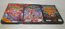 Double Dragon 1 2 3 Nintendo NES COMPLETE CIB Trilogy I II III Very Good