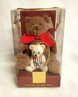 Lenox Christmas Ornament American Bears Plush Teddy Bear 100th Anniversary