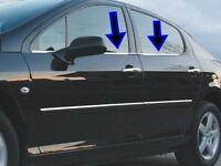 2005Up Peugeot 407 Chrome Windows Frame Trim 4Pcs 4Door S.STEEL