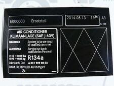 Original Mercedes pegatinas aire acondicionado r129 w202 nuevo!