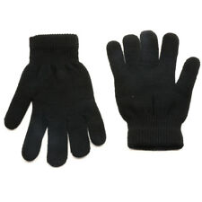 Black Thermal Warm Stretch Wool Knitted Riding Driving Gloves UK Seller LIGH