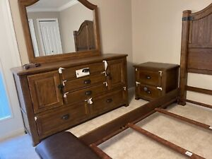 Collectible brand new with tags brown queen bedroom set