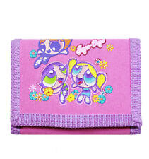 Warner Bros Power Puff Girls Pink/Purple Trifold Wallet/Card Holder for Kids